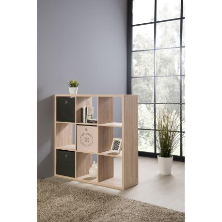 Fortune roomdivider met 9 vakken oak sonoma for Volwassen kamer schilderij model