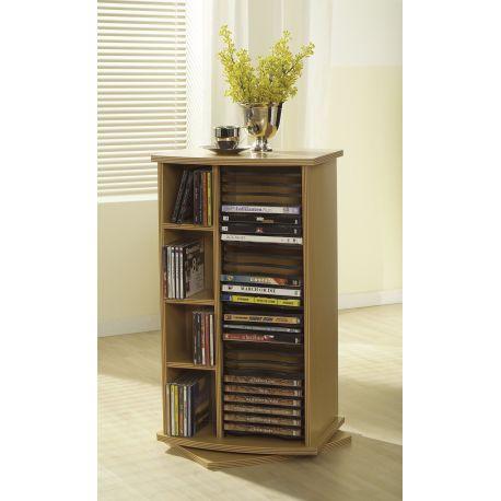 Cd/dvd meubel in houtdekor Zaffars