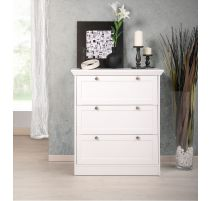 Commode/armoire FENNY à chaussures en blanc