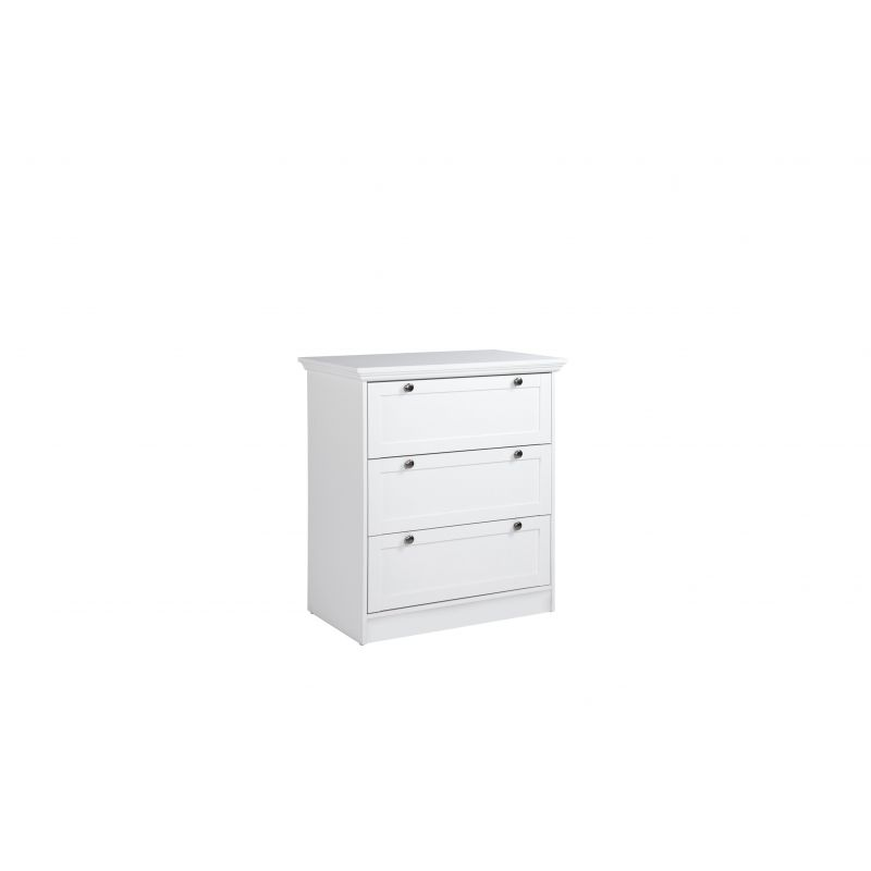 commode armoire fenny chaussures en blanc. Black Bedroom Furniture Sets. Home Design Ideas