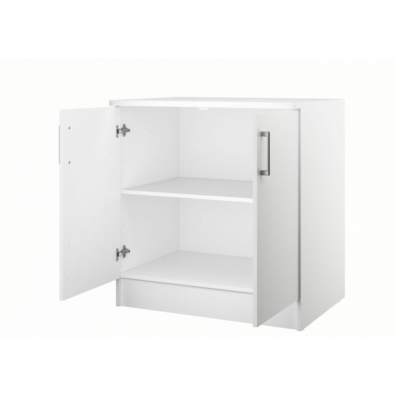 armoire amy haute 2 portes avec rangements en blanc. Black Bedroom Furniture Sets. Home Design Ideas
