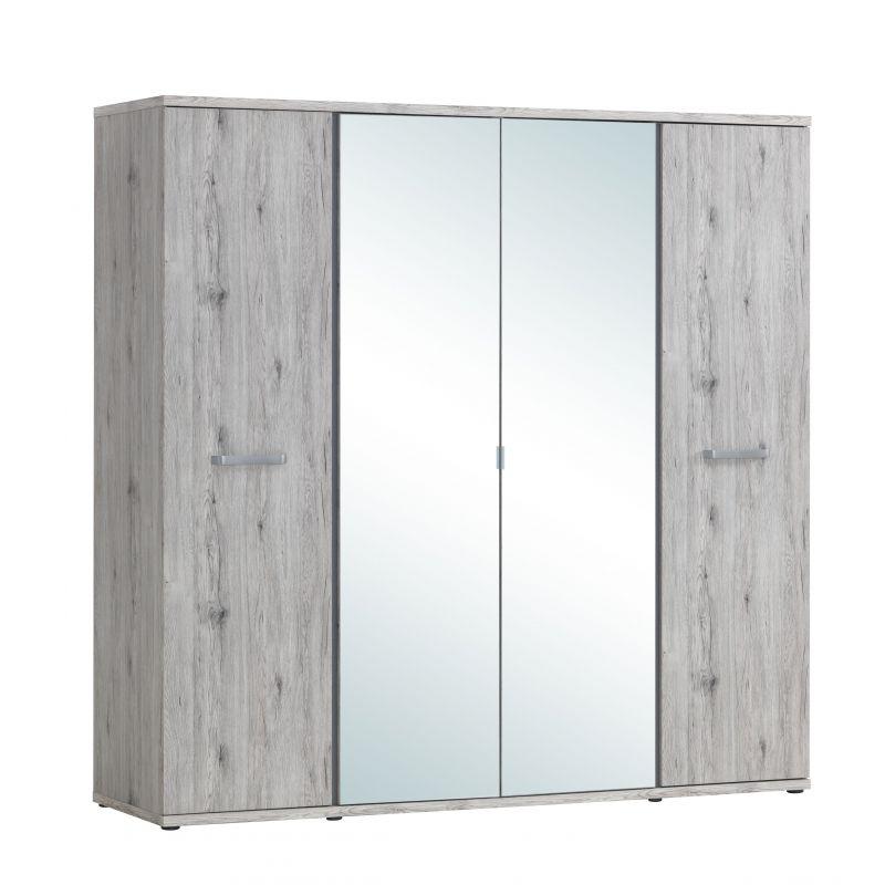 armoire 4 portes oyster. Black Bedroom Furniture Sets. Home Design Ideas