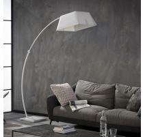LAMPE COURBEE ZAKI Blanc