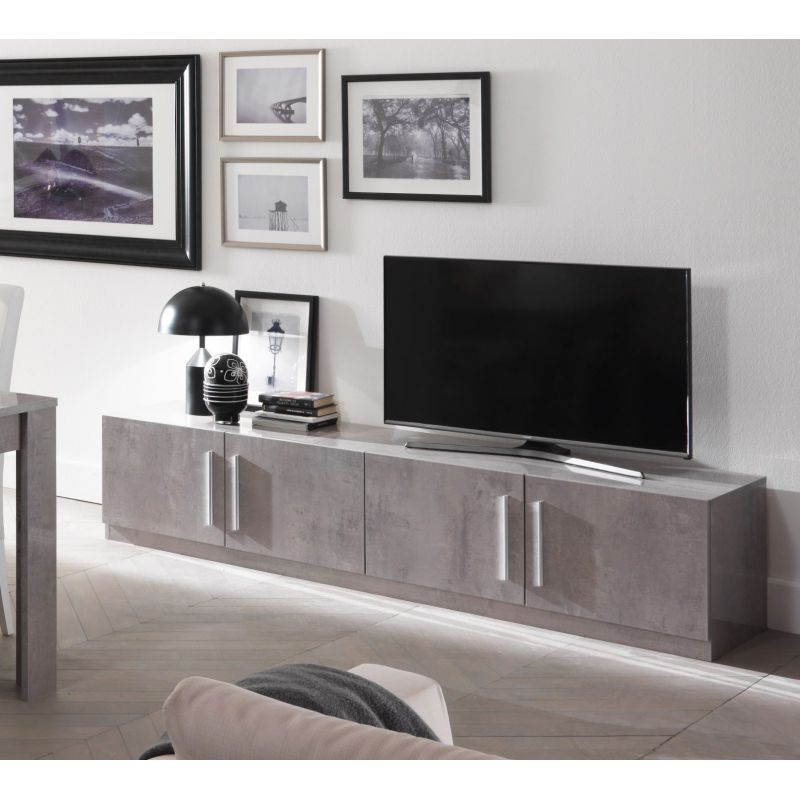 meuble tv greta 208 cm. Black Bedroom Furniture Sets. Home Design Ideas
