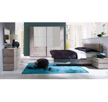 Moderne slaapkamer in origineel hout dekor RICARDO