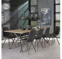 Table d'apparence industrielle de 240 cm