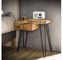 Table de chevet en bois d'acacia massif GAUCHE