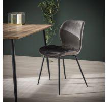 Moderne stoel in velvet antraciet