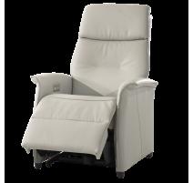 Relax électrique en gris tissu avec double moteur