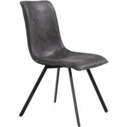 Chaise en tissu gris PEPE