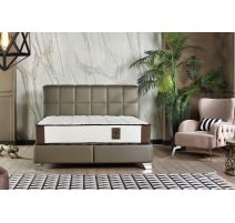 Boxspring Handy en couleur taupe