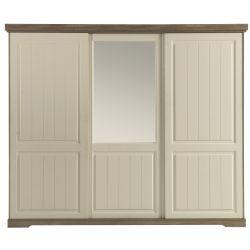 Armoire Ivette 3 portes coulissantes