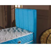 Boxspring Long Bleu 90 cm